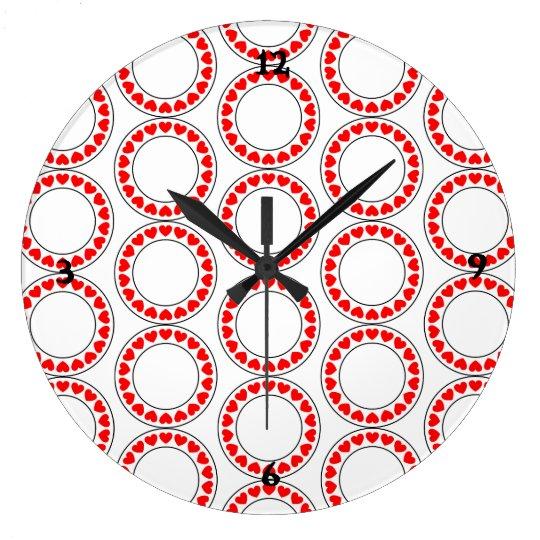 CUTE LOVING HEARTS Acrylic Wall Clock