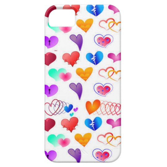 CUTE LOVING HEARTS, SE + iPhone 5/5S, Barely There Case For The iPhone 5