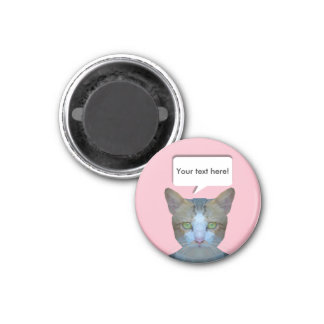 Cute low poly cat customisable magnet