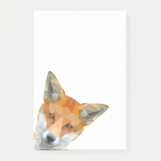 Cute low poly fox post it notes