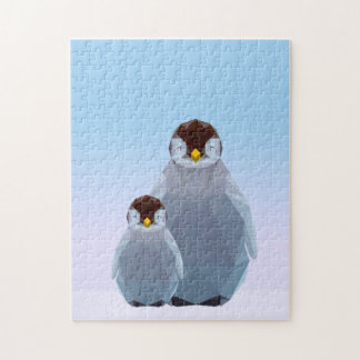 Cute low poly penguin jigsaw jigsaw puzzle