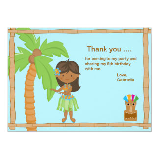 Cute Luau Boy Thank You Card 11 Cm X 16 Cm Invitation Card