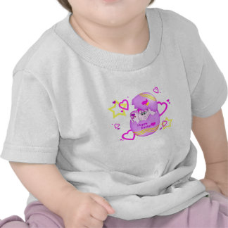 Cute Lucky Pinkie Happy Easter Infant T-Shirt