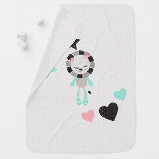 Cute Lullaby Dream Laugh Decor Neutral Lion Baby Blanket