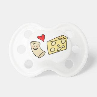 Cute Macaroni and Cheese Cartoon Pacifier