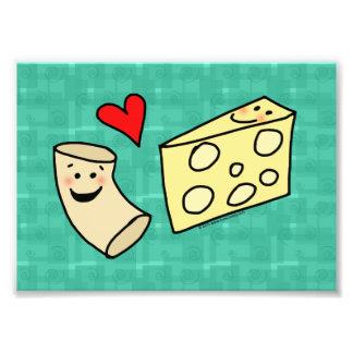 Cute Macaroni Loves Cheese Art Print Art Photo