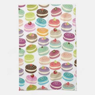 Cute Macarons Pattern Tea Towel