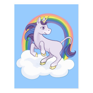 Cute Magical Rainbow Unicorn Postcard