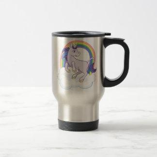 Cute Magical Rainbow Unicorn Travel Mug