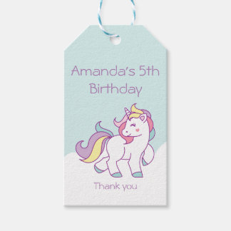 Cute Magical Unicorn Pastel Baby Shower BIRTHDAY Gift Tags
