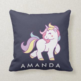 Cute Magical Unicorn Pastel color Personalized Cushion
