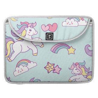 Cute Magical Unicorn Pastel color Personalized Sleeve For MacBook Pro
