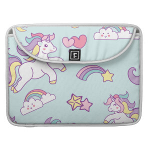 Cute Magical Unicorn Pastel colour Personalised Sleeve For MacBook Pro