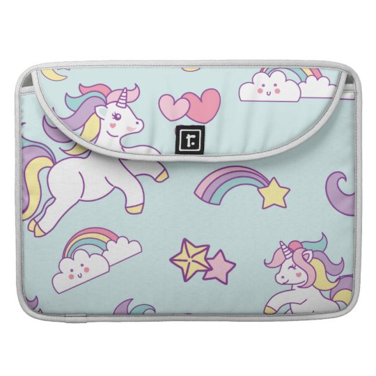 Cute Magical Unicorn Pastel colour Personalised Sleeve For