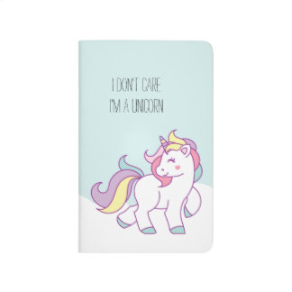 Cute Magical Unicorn Personalized Pocket Journal