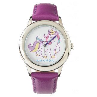 Cute Magical Unicorn Personalized Watch