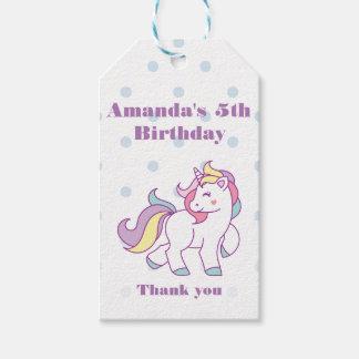 Cute Magical Unicorn Polka DOT custom Birthday Gift Tags