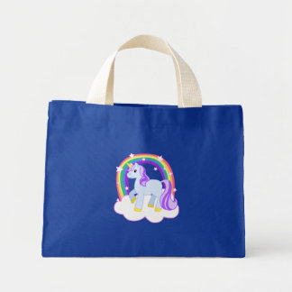 Cute Magical Unicorn with rainbow (Customisable!) Tote Bag