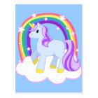 Cute Magical Unicorn with rainbow (Customisable!) Postcard