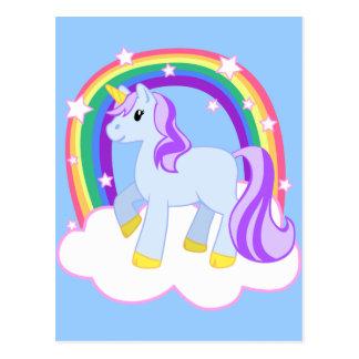 Cute Magical Unicorn with rainbow (Customisable!) Post Card