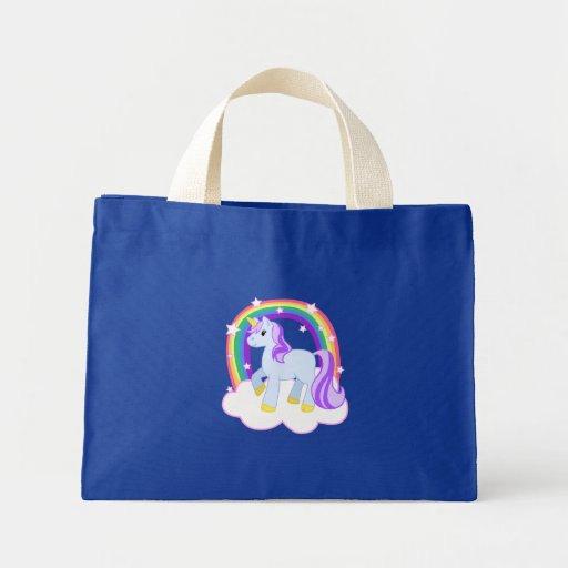 Cute Magical Unicorn with rainbow (Customizable!) Tote Bag