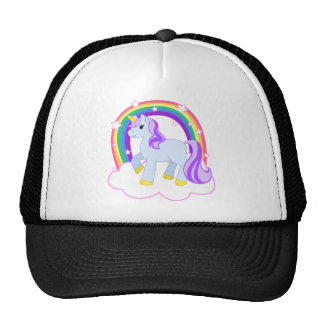 Cute Magical Unicorn with rainbow (Customizable!) Trucker Hat