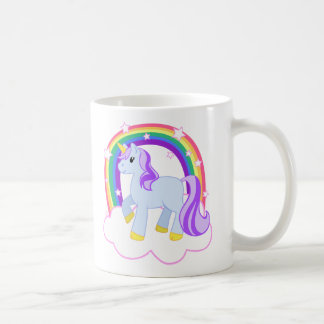 Cute Magical Unicorn with rainbow (Customizable!) Coffee Mug