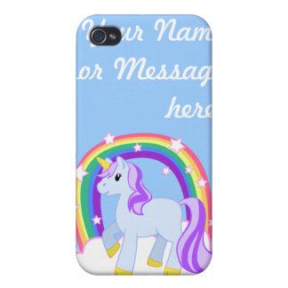 Cute Magical Unicorn with rainbow (Customizable!) iPhone 4/4S Case