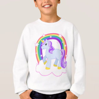 Cute Magical Unicorn with rainbow (Customizable!) Sweatshirt