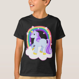 Cute Magical Unicorn with rainbow (Customizable!) T Shirts