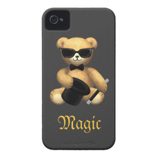 Cute Magician Teddy Bear - Magic iPhone 4 Cases