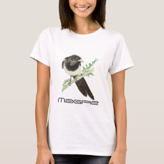 Cute Magpie Bird, Birding, Nature, Wildlife,Garden T-Shirt