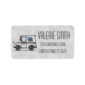 Cute Mail Truck Address Label