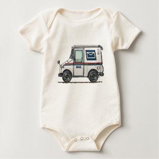 Cute Mail Truck Baby Bodysuit