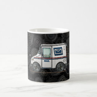 Cute Mail Truck Basic White Mug
