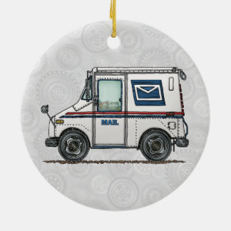 Cute Mail Truck Christmas Ornament