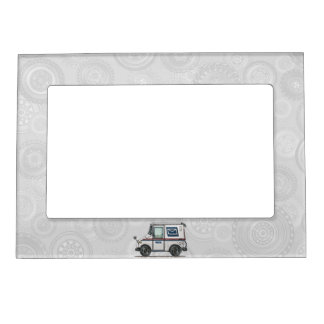 Cute Mail Truck Magnetic Picture Frame