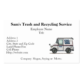 Cute Mail Truck Pack Of Standard Business Cards