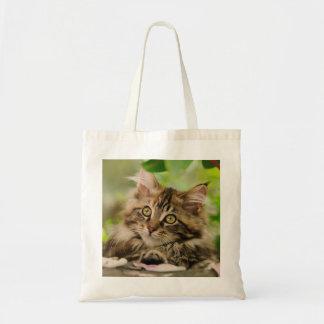 Cute Maine Coon kitten Tote Bag