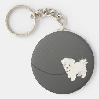 Cute Maltese Dog Key Chain