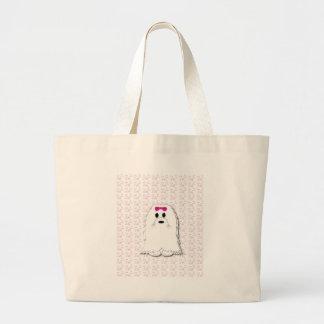 Cute Maltese puppy cartoon Jumbo Tote Bag