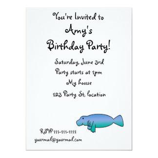 Cute manatee 17 cm x 22 cm invitation card