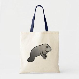Cute Manatee Budget Tote Bag