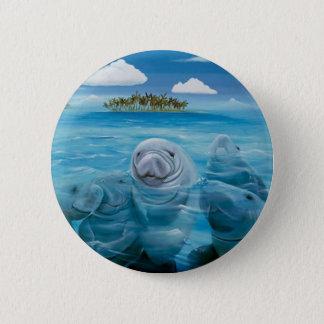 Cute Manatee Button Round