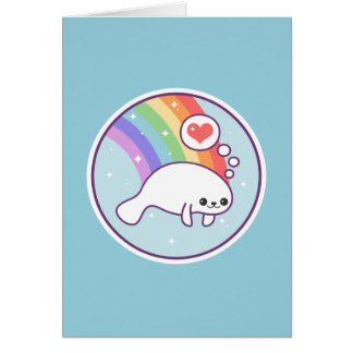 Cute Manatee Card
