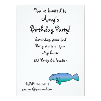 Cute manatee 17 cm x 22 cm invitation card