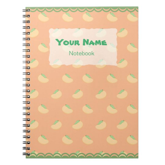 Cute Mango Pattern Notebook