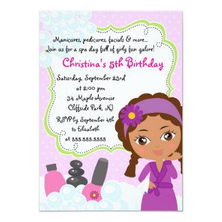 Cute Manicure Spa Birthday Party Invitation