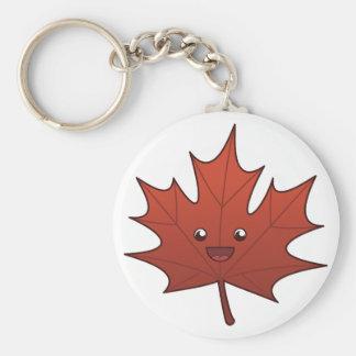 Cute Maple Leaf Key Ring