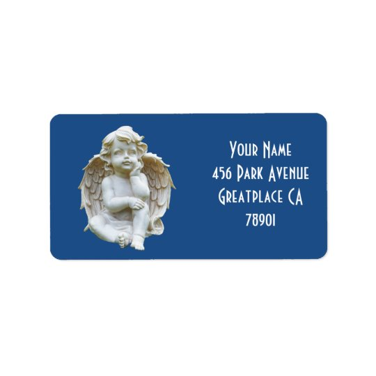 Cute Marble Baby Angel Address Lable Label
